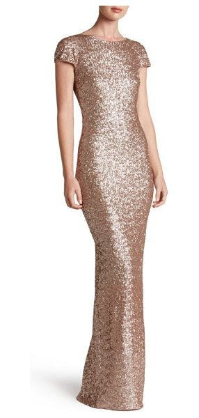 Dress the Population teresa body-con gown in rose gold - Highlight every curve in the scintillating shine of...