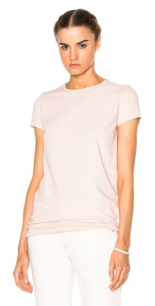 DRKSHDW by Rick Owens Level Tee in pink - 100% cotton.  Made in Italy.  Hand wash.