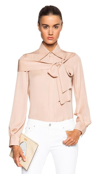 Dsquared2 Broadway blouse in neutrals - 100% silk.  Made in Italy.  Hidden button front...