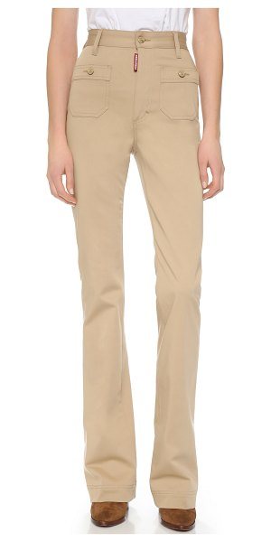 DSQUARED2 High waisted pants - These flared DSQUARED2 pants channel retro style, cut to...