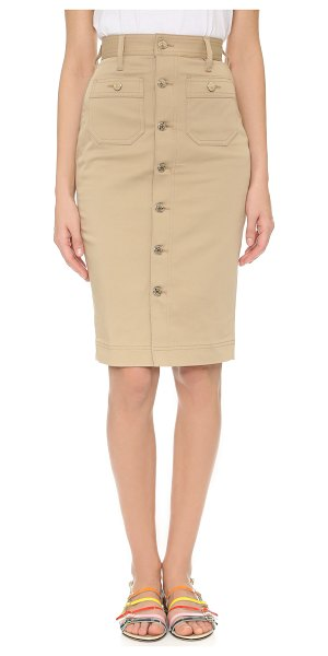 Dsquared2 High waisted skirt in camel - A sleek, utilitarian DSQUARED2 pencil skirt with...
