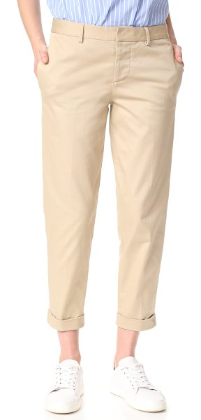Dsquared2 hockney pants in beige - Straight-leg DSQUARED2 pants in an ankle-length profile....