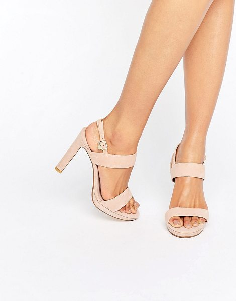 DUNE BRIDAL Maye Blush Suede Heeled Sandals - Heels by Dune, Suede upper, Slingback strap, Pin-buckle...
