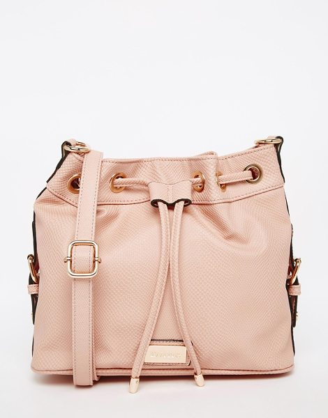 Dune Bucket bag in nude lizard - Cart by Dune Faux leather outer Textured design...