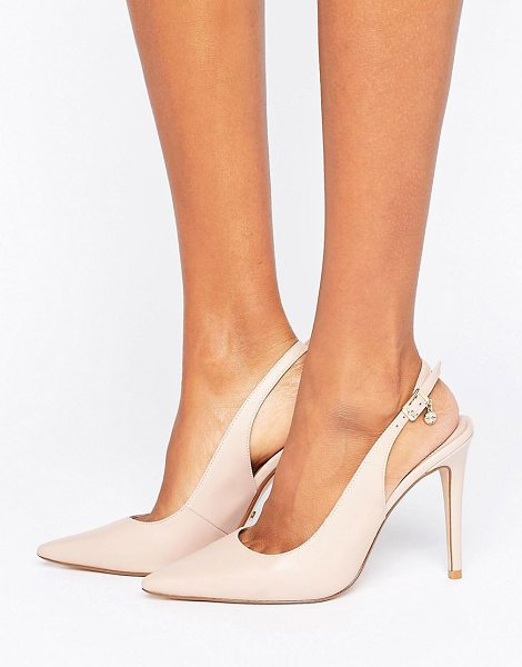 "DUNE London Chelsea Pointed Open Pumps - """"Shoes by Dune, Leather upper, Ankle-strap fastening,..."