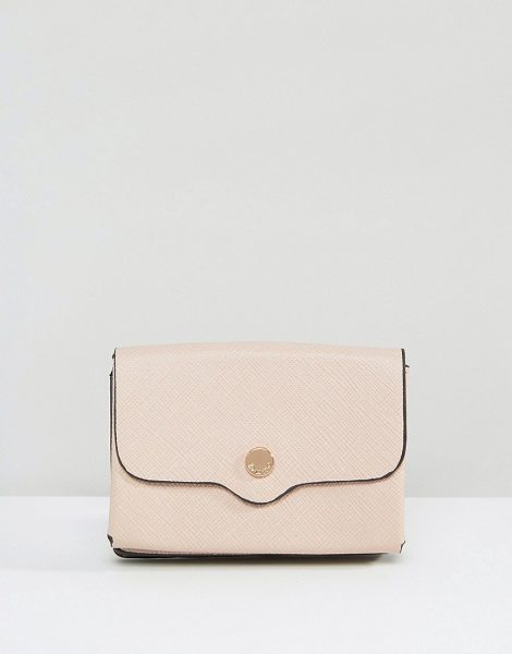 Dune Exclusive Kimberly Purse in Blush Pink in pink - Wallet by Dune, Textured faux-leather outer, Press-stud...