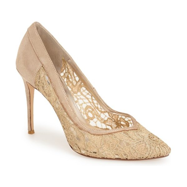 Dune London buffie pump in champagne leather - A sultry sweetheart vamp enhances the romantic appeal of...