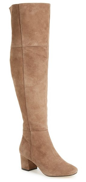 Dune London sanford tall boot in taupe suede