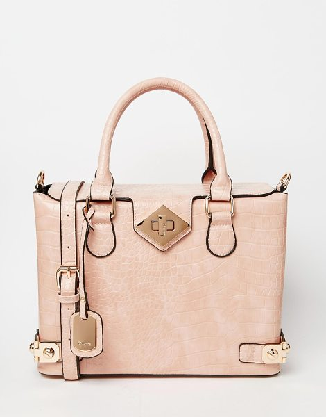 Dune Mock croc tote bag in nude croc - Cart by Dune Croc-style faux-leather outer Fully lined...