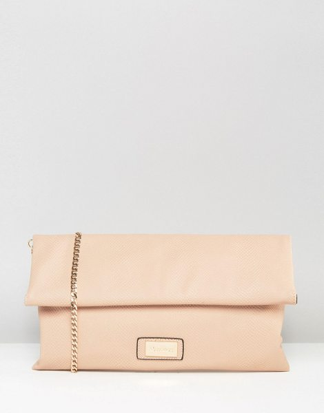 DUNE Roll Top Clutch Bag - Cart by Dune, Faux-leather outer, Branded lining,...