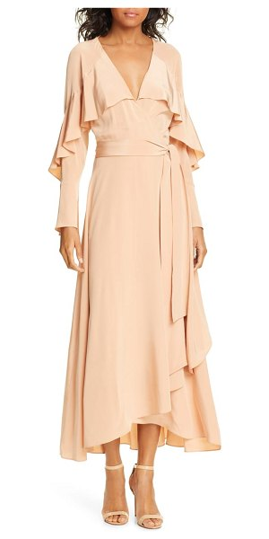 DVF isla silk midi wrap dress in coral - Modern and vintage influences collide on this dusty-pink...