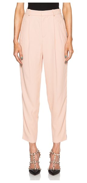 Each X Other Tuxedo trousers in neutrals - Self: 53% acetate 47% viscose - Lining: 100% cotton. ...