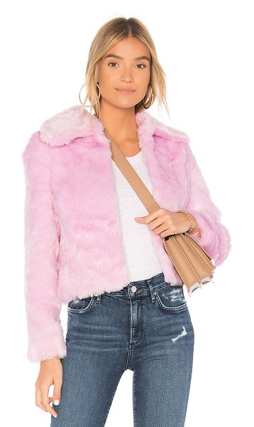 EAVES x REVOLVE Ryder Faux Fur Jacket in pink - Beat the winter chill with EAVES x REVOLVE's Ryder Faux...