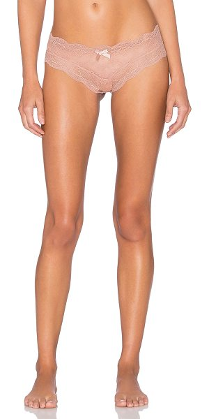 Eberjey Bonnie lace hipster in blush - Self: 85% nylon 15% spandexLining: 100% cotton. Hand...