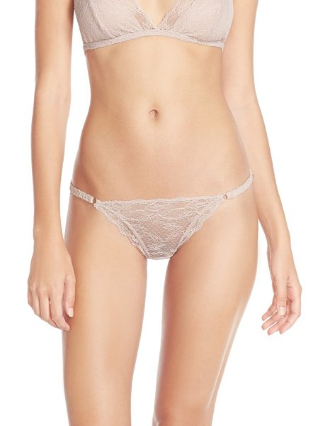 Eberjey georgette lace low rise thong in rose