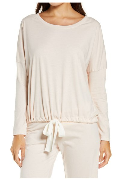 Eberjey heather knit slouchy tee in pink