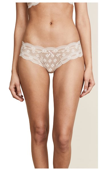 Eberjey india lace low rise boy thong in bare