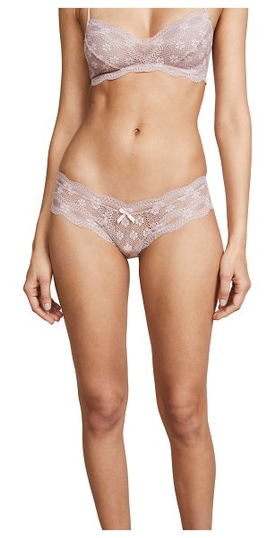 Eberjey india lace low rise boy thong in quartz