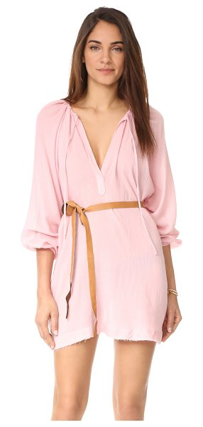 Eberjey summer of love juliet cover up in silver pink - An airy gauze Eberjey cover-up with an unfinished hem....