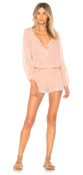 "Eberjey Summer Of Love Romper in pink - ""70% bamboo from viscose 30% cotton. Hand wash cold...."