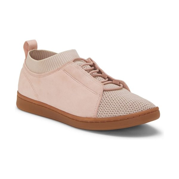ED Ellen DeGeneres calissa sneaker in pink - Lace-up style with slip-on functionality, this...