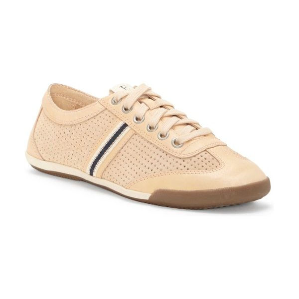 ED Ellen DeGeneres 'escondido' sneaker in bare/ bare leather - A throwback sneaker gets a modern update from perforated...