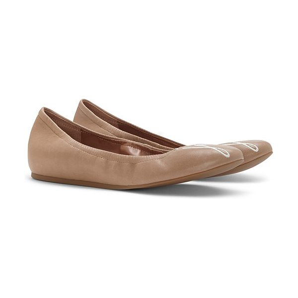 ED Ellen DeGeneres langston ballet flat in sahara suede - A cheerful reminder to love, laugh or smile (or simply...