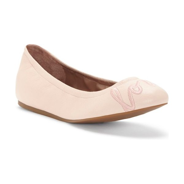 ED Ellen DeGeneres 'langston' ballet flat in peony pink/ rose leather - A cheerful reminder to love, laugh or smile (or simply...