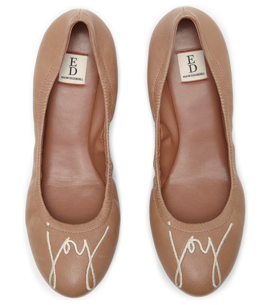 ED Ellen DeGeneres 'langston' ballet flat in beige leather - A cheerful reminder to love, laugh or smile (or simply...