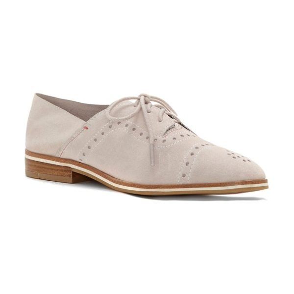ED Ellen DeGeneres lolena oxford in pink champagne leather - Broguing updates a borrowed-from-the-boys lace-up oxford...