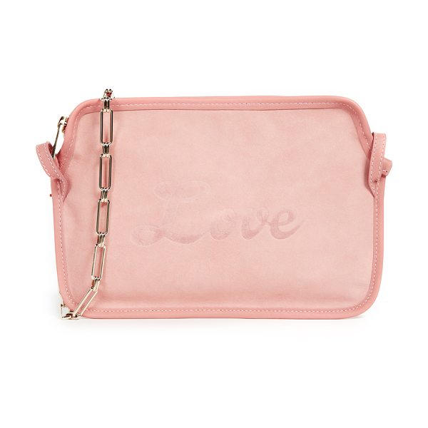 EDIE PARKER amy love suede cross body bag - Leather: Calfskin Gold-tone hardware Embossed 'Love'...