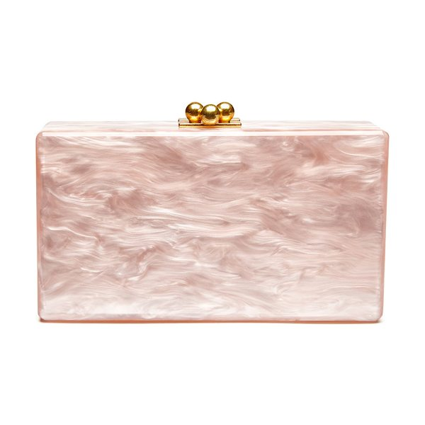 Edie Parker Jean Solid Acrylic Clutch Bag in rose - Edie Parker hand-poured acrylic box clutch bag. Hinged...
