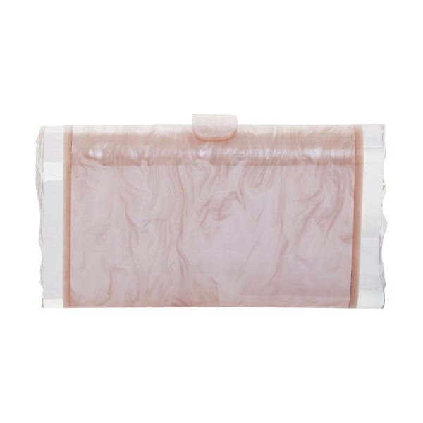 Edie Parker lara acrylic clutch in beige - A signature Edie Parker silhouette, this chic...