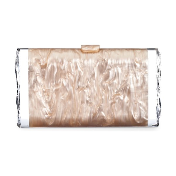 EDIE PARKER Lara Acrylic Ice Clutch Bag - Pearlescent acrylic; signature clear detail on sides....