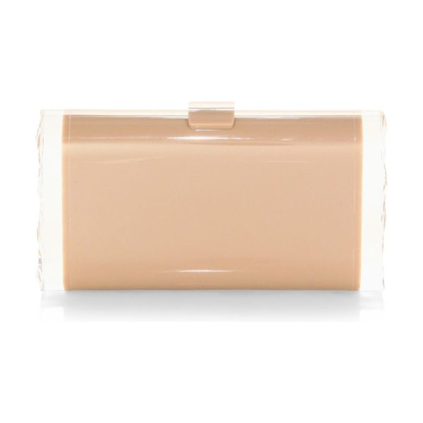 Edie Parker lara backlit clutch in nude - Hand-poured acrylic clutch with glossy finish. Acrylic...