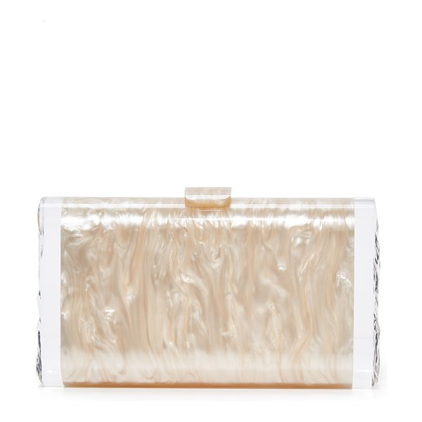 Edie Parker lara solid clutch in nude