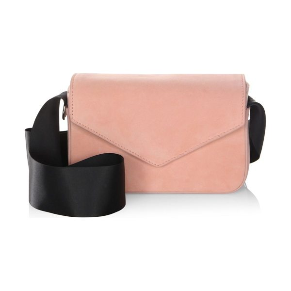 Edie Parker melissa suede shoulder bag in pink - Suede shoulder bag with contrasting shoulder strap....