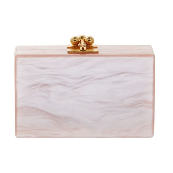 "Edie Parker Minnie acrylic clutch bag in rose -  Edie Parker ""Minnie"" hard-shell clutch bag in..."