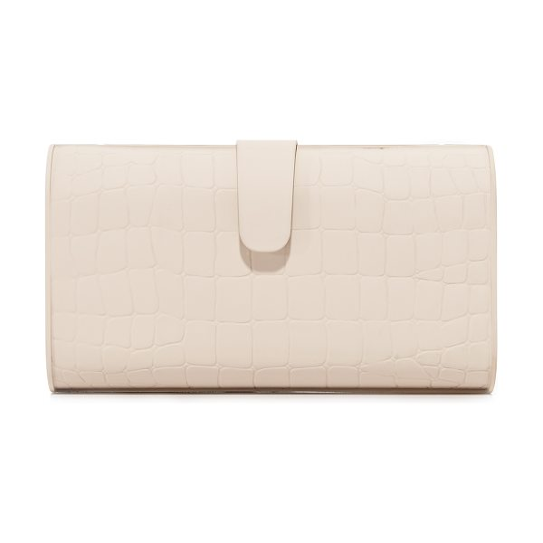 Edie Parker rebekah matte croc clutch in nude - A hardshell Edie Parker clutch with a matte finish and...