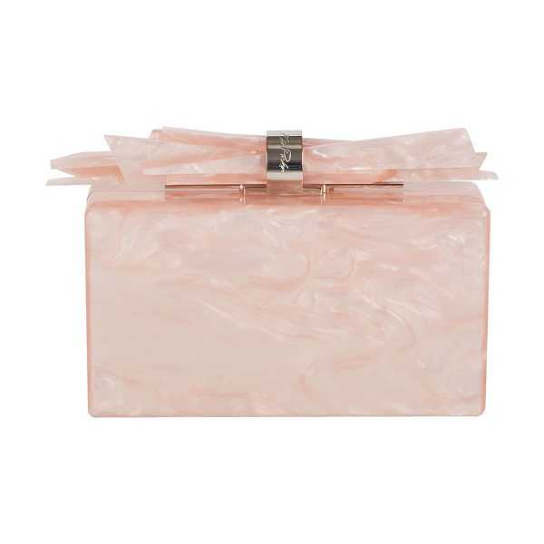 Edie Parker Wolf Glittered Acrylic Clutch Bag in pink - Edie Parker glittered, hand-poured acrylic box clutch...