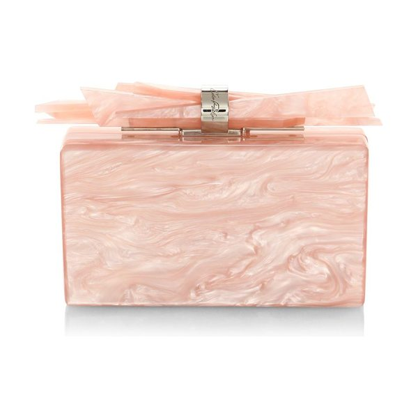 Edie Parker wolf shard box clutch in rosequartz - Shards of acrylic enhance this eye-catching clutch....