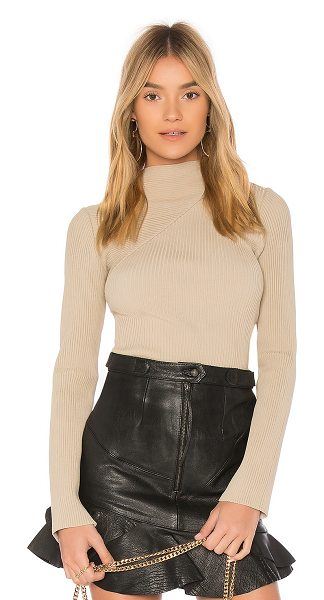 EGREY Tricot Cut Out Sweater in beige - 80% viscose 18% polyamide 2% elastane. Hand wash cold....