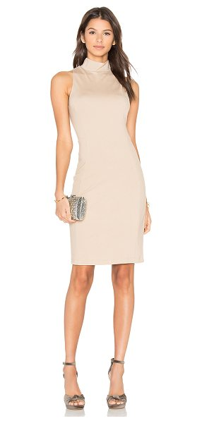 Eight Sixty Mock Neck Dress in camel - 68% viscose 27% nylon 5% spandex. Hand wash cold....