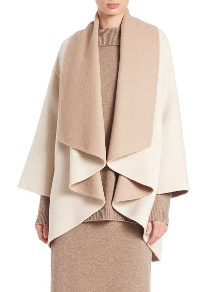 Eileen Fisher Cocoon jacket in beige-multi - EXCLUSIVELY AT SAKSColorblock cocoon layer in alpaca...