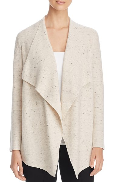 Eileen Fisher Drape Front Cardigan in ecru - Eileen Fisher Drape Front Cardigan-Women