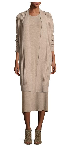 Eileen Fisher Fisher Project Cozy Ribbed Elongated Cardigan in almond - Eileen Fisher ribbed knit cardigan. Available in...