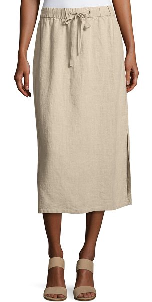 EILEEN FISHER Heavy Organic Linen Midi Skirt - Eileen Fisher midi skirt in heavy organic linen....