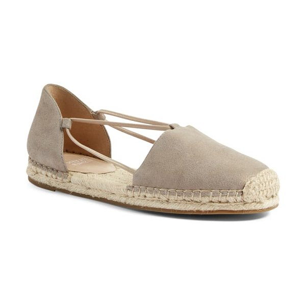 EILEEN FISHER lee espadrille flat - Smooth leather balances the earthy jute trim on this...