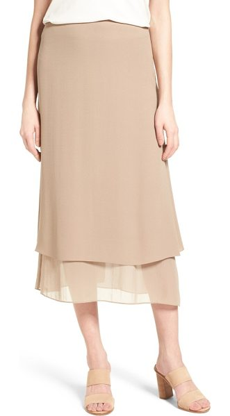 EILEEN FISHER long layered silk skirt - Layered construction creates rippling movement for a...