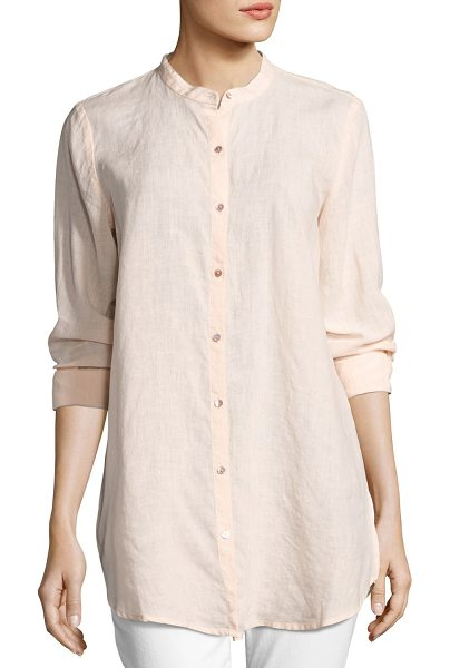 Eileen Fisher Organic Handkerchief Linen Shirt in shell - Eileen Fisher handkerchief linen shirt in your choice of...
